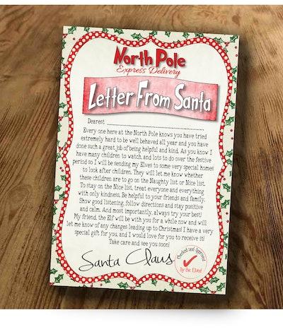 Kids Christmas Letter From Santa