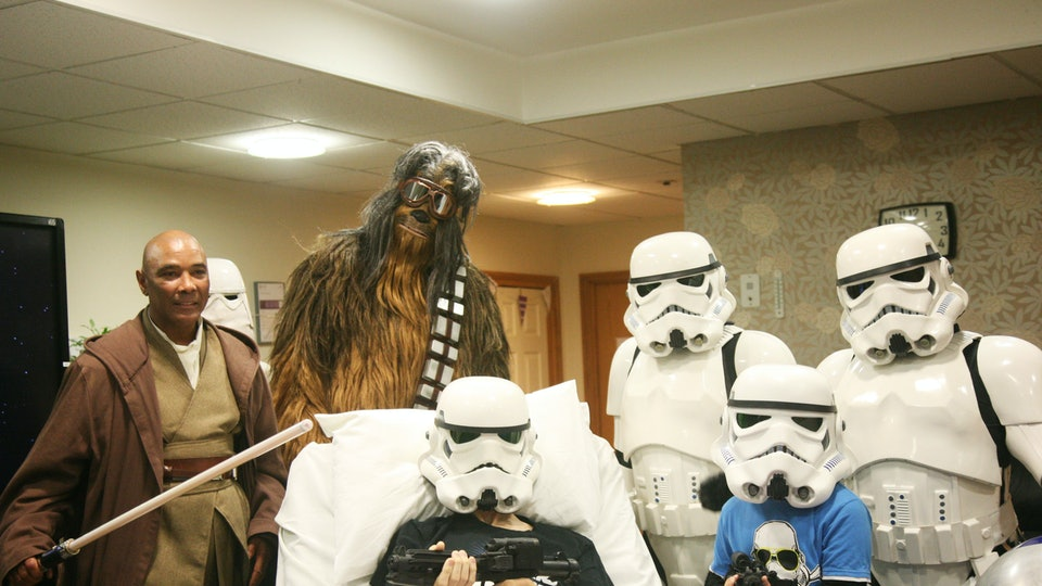 Rowans Hospice teamed up with Disney to gift a Star Wars fan with a terminal illness a private screening of the upcoming film.