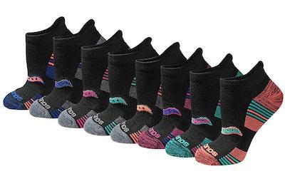 Saucony Women's Performance No-Show Sport Socks (8 Pairs)