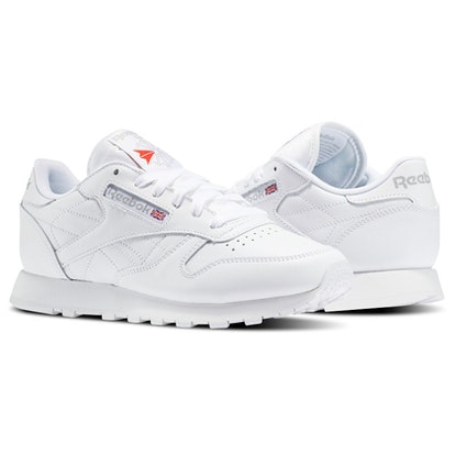"Classic Leather Women's Shoes in ""White"""