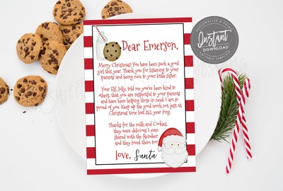 Personalized Christmas Cookie Letter