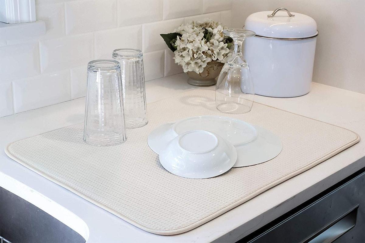 S&T Microfiber Dish Drying Mat
