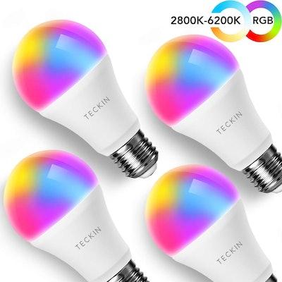 T TECKIN Smart Light Bulbs (4-Pack)