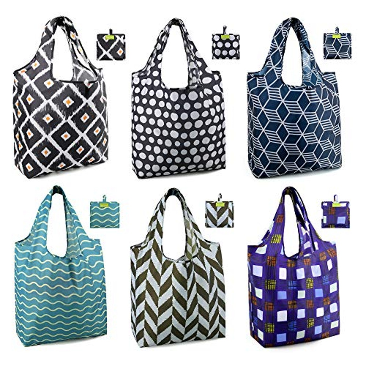 BeeGreen Reusable Grocery Bags (6-Pack)