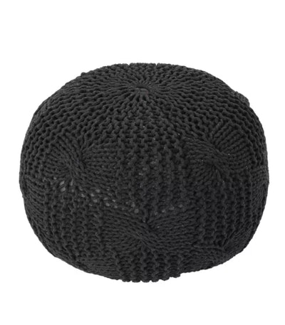 Anouk Knitted Cotton Pouf - Christopher Knight Home