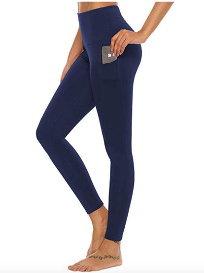 Mint Lilac Women's High Waist Workout Yoga Leggings with Pockets