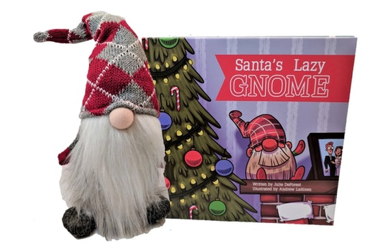 Santa's Lazy Gnome is an alternative to Elf on the Shelf for families.