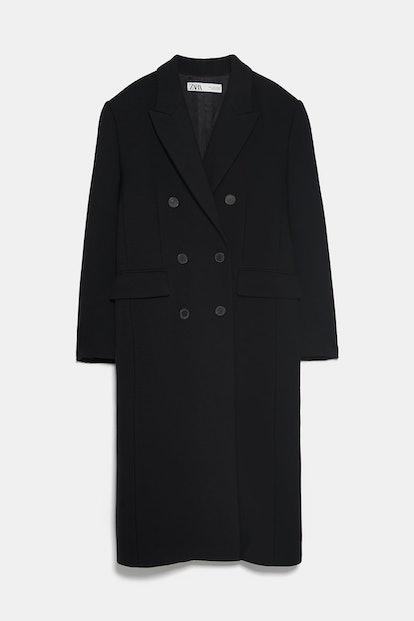 Buttoned Menswear Coat