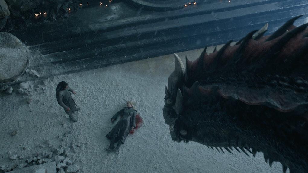 Drogon, Daenerys, Jon Snow, Game of Thrones
