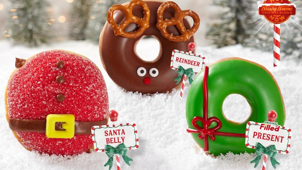 Krispy Kreme's holiday 2019 doughnuts come in so many varieties.