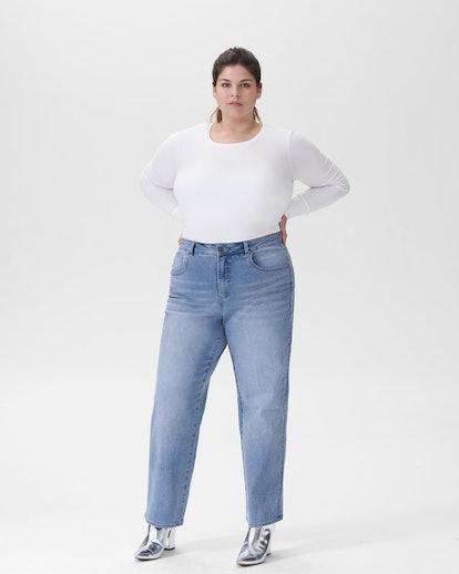 """Bae Boyfriend Jeans 30 Inch in """"Light Blue"""""""