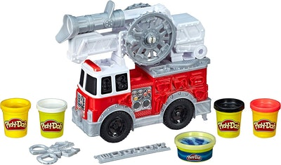 Play-Doh Wheels Firetruck Toy With Play-Doh