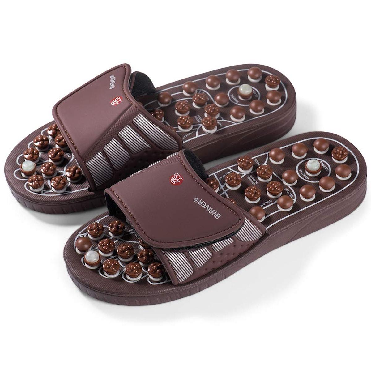 BYRIVER Indoor Massage Slippers Shoes