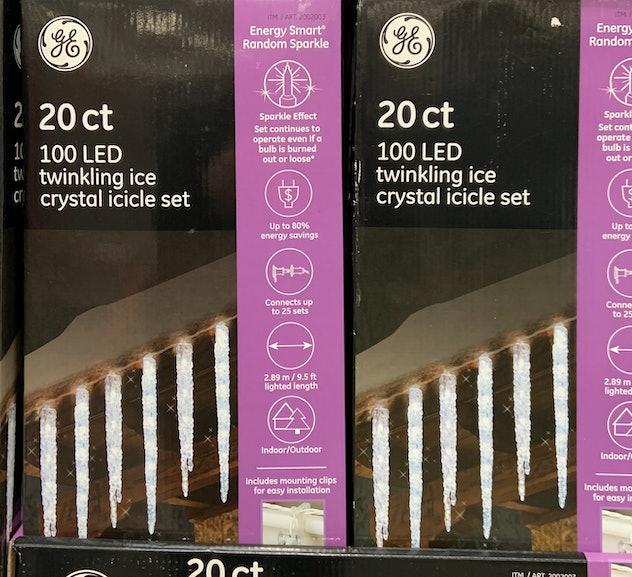 LED Twinkling Ice Crystal Icicle Set