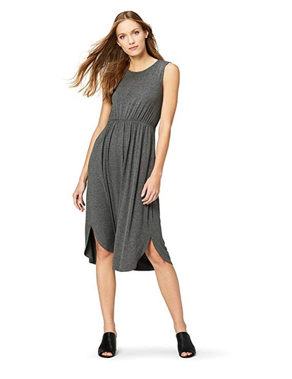 Daily Ritual Women's Jersey Sleeveless Gathered Dress