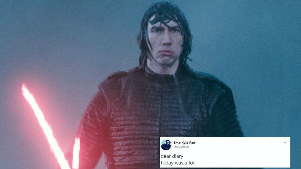 Kylo Ren plus tweet