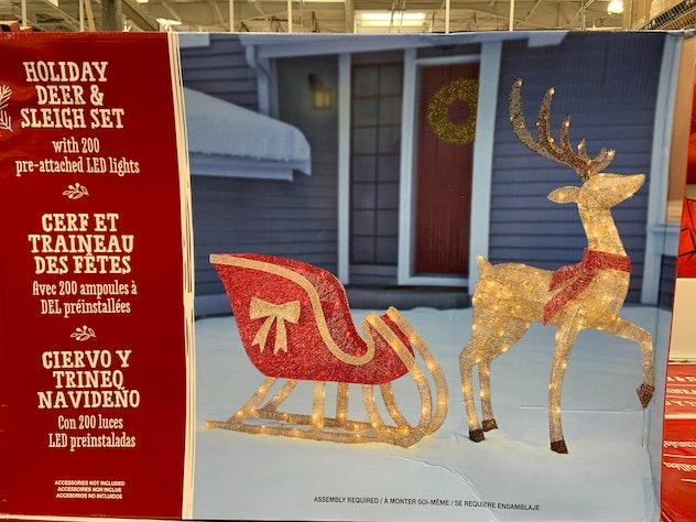 Holiday Deer & Sleigh Set