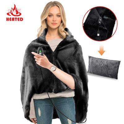 RTDEP USB Heated Shawl With Pillowcase