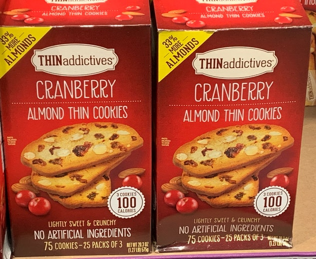Thin Addictives Cranberry Almond Thin Cookies