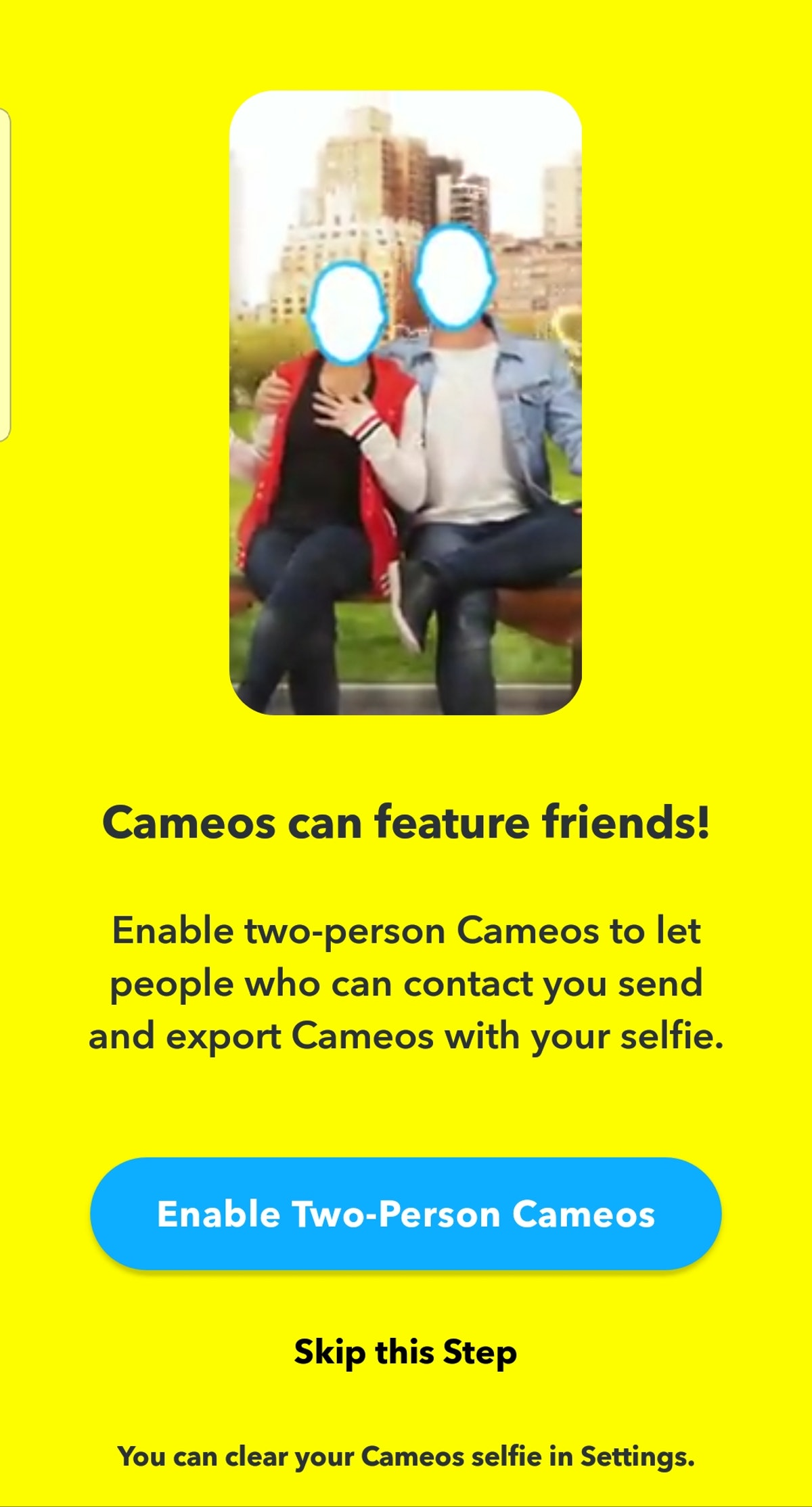 How To Make A Snapchat Cameo For the first time so you can start sharing.