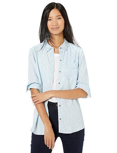 Goodthreads Women's Tencel Boyfriend Shirt