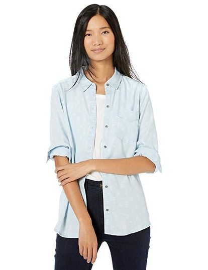 Goodthreads Women's Tencel Boyfriend Shirt