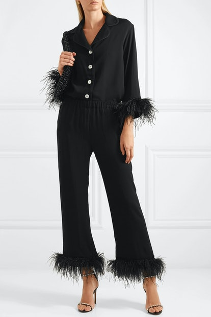 Black Tie Pajama Set