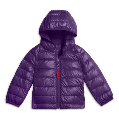 Baby Lightweight Puffer Jacket in 'Grape'
