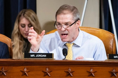 One of Trump's most prominent supporters, Rep. Jim Jordan, R-Ohio, speaks during a House Intelligenc...