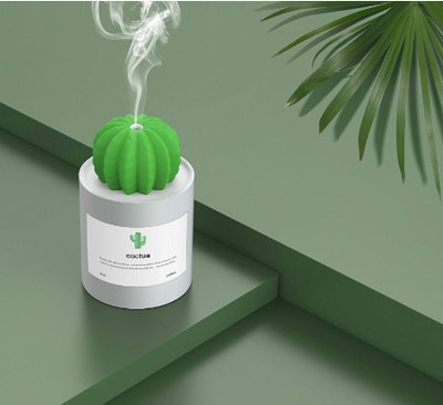 warrita USB Cool Mist Humidifier Mini Cactus Humidifier