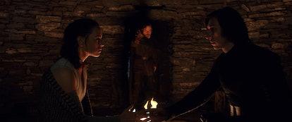 Daisy Ridley as Rey, Adam Driver as Kylo Ren, 'Star Wars'
