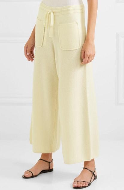 Futile cashmere wide-leg pants