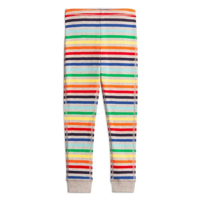 The Kids Rainbow Sripe PJ Pant in 'Rainbow Heather Gray'