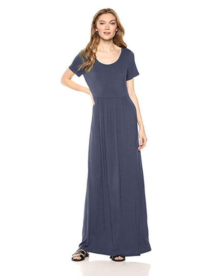 Daily Ritual Women's Empire-Waist Maxi Dress