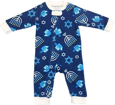 MJC International Family Matching Hanukkah Fleece Pajama Sets - Sizes for All Ages!