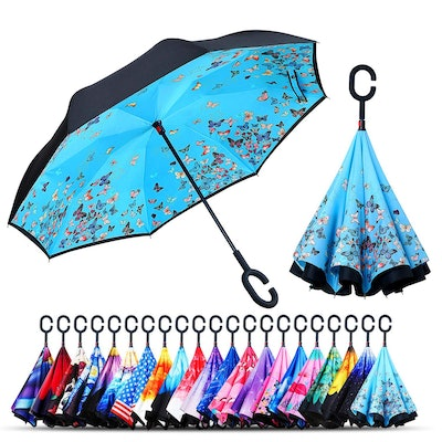 Owen Kyne Windproof Double Layer Folding Inverted Umbrella