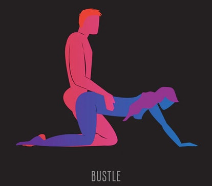 Drawing of doggy style sex position to try in bed in 2020.