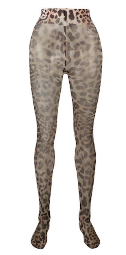 Leopard Print Tights