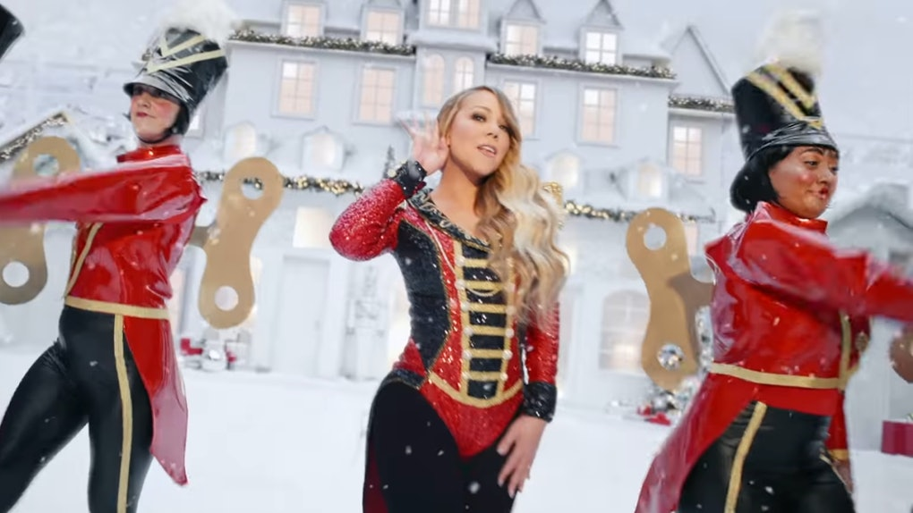 "Mariah Carey's New ""All I Want For Christmas Is You"" video is so festive."
