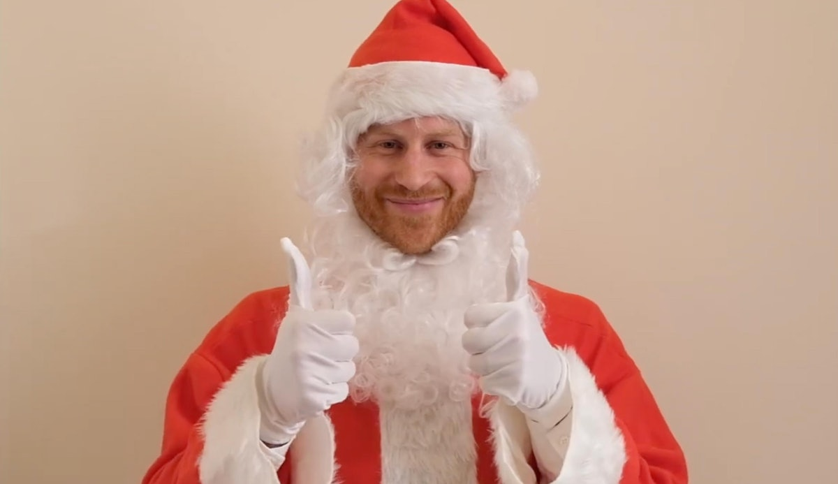 This Video Of Prince Harry Dressed As Santa for charity, Scotty's Little Soliders, is so sweet.