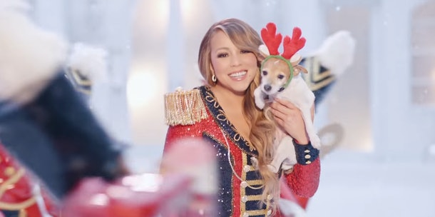 """You can see Mariah Carey's kids in her new """"All I Want For Christmas Is You"""" Video."""
