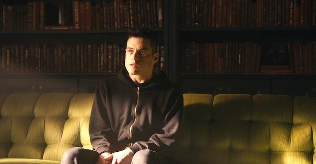 Rami Malek as Elliot Alderson in Mr. Robot