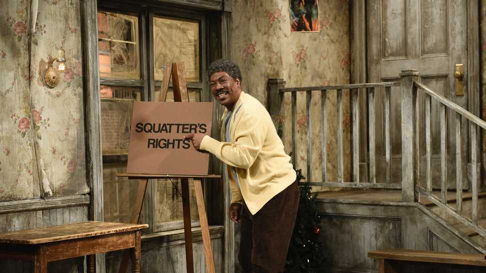 "SATURDAY NIGHT LIVE -- ""Eddie Murphy"" Episode 1777 -- Pictured: Host Eddie Murphy as Mr. Robinson during the ""Mr. Robinson's Neighborhood"" Sketch on Saturday, December 21, 2019 -- (Photo by: Will Heath/NBC)"