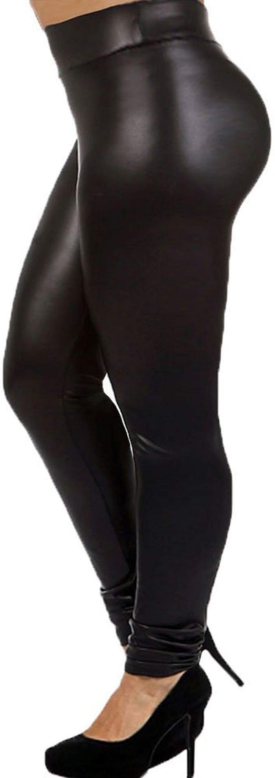 7th Element High-Waisted Faux Leather Leggings
