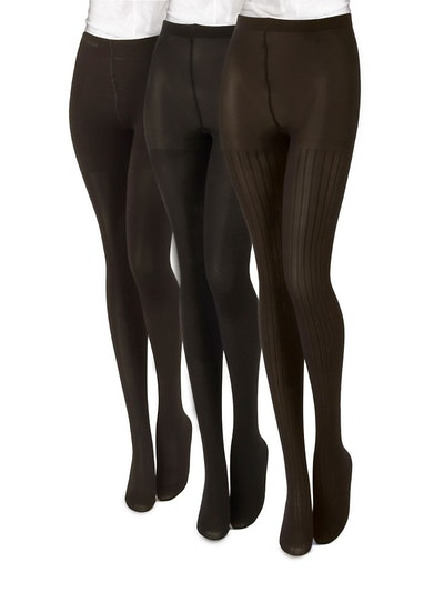 Calvin Klein 3-Pair Microfiber Pattern Tights