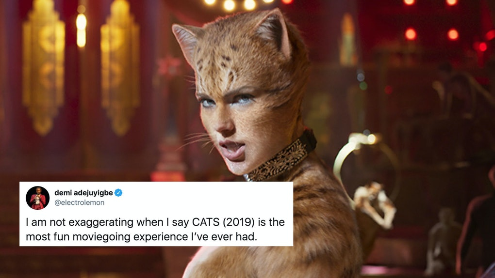 Some fans tweeted nice things about the 'Cats' movie amidst the overwhelming hate.