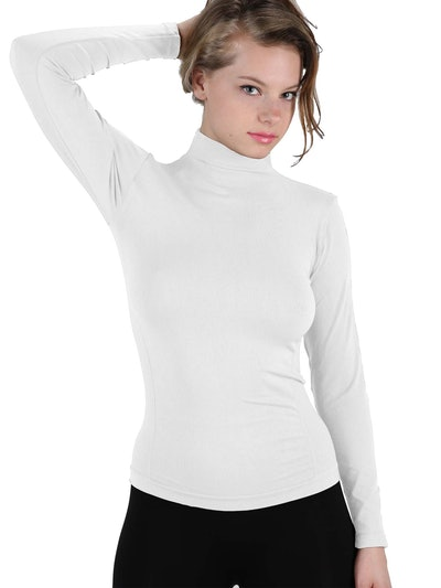 Stretch Long Sleeve Turtleneck