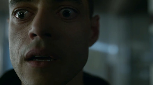 Rami Malek as Elliot's mastermind identity in Mr. Robot