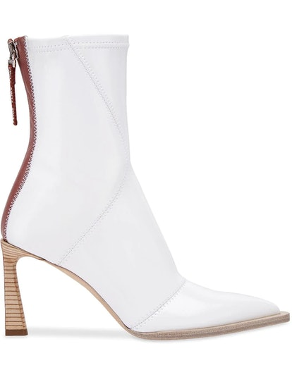 FFrame Structured Heel Ankle Boots