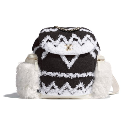 Wool And Shearling Backpack